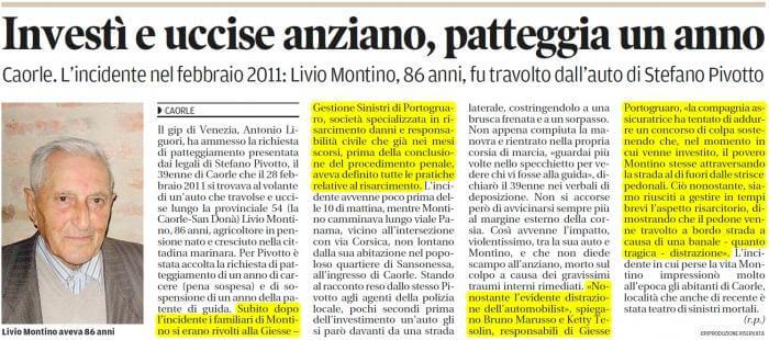Articolo di giornale Zanco La Nuova