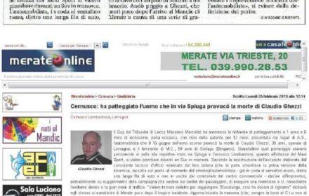 Muore in moto contro un suv: risarcimento danni Monza