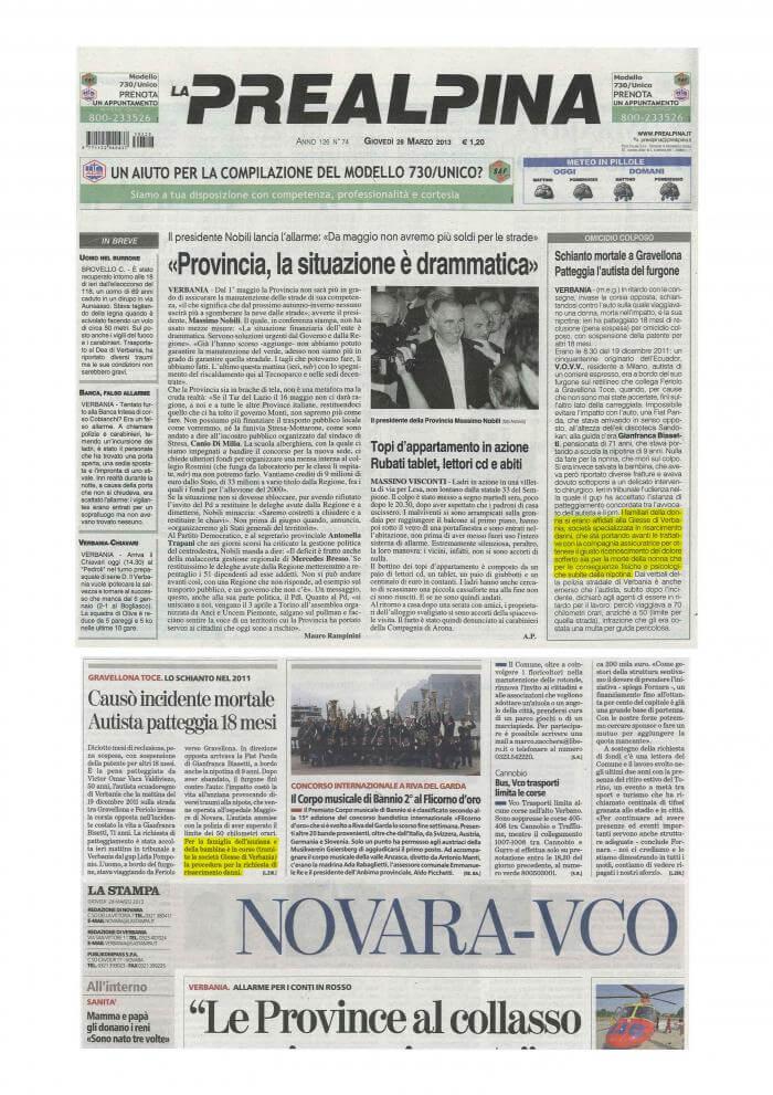 Articolo di giornale Biasetti