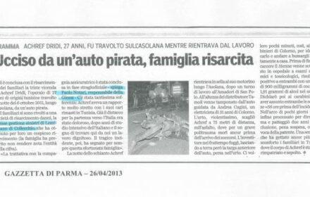Ucciso da auto pirata: risarcimento incidente moto Parma
