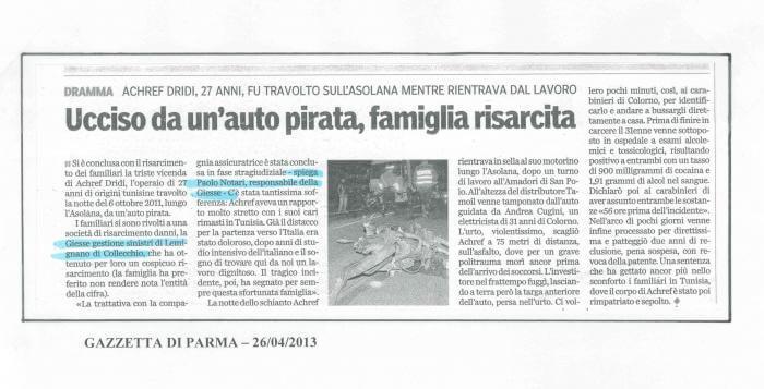 Articolo di giornale Auto Pirata