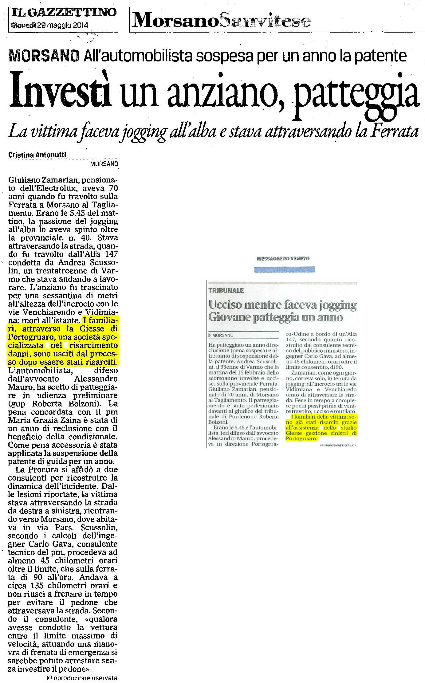 Giuliano-Zamarian-risarcimento-danni-incidente-stradale