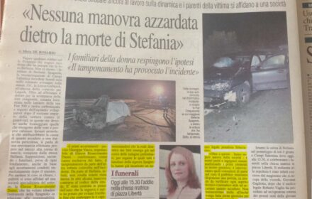 Lecce: risarcimento incidente stradale mortale