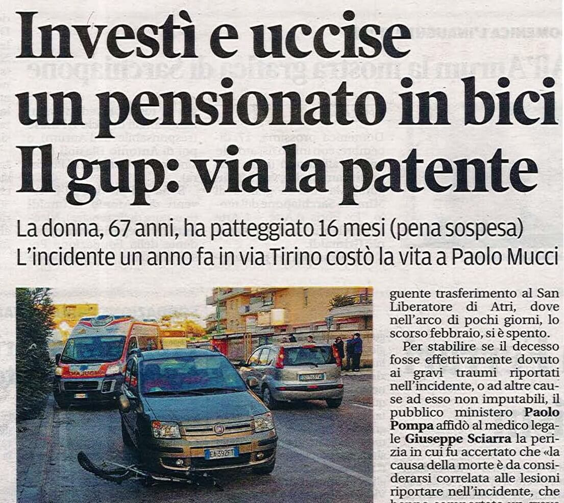 Incidente stradale Pescara Giesse Risarcimento Danni