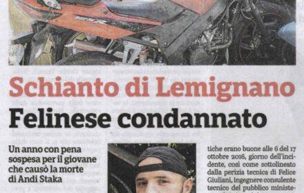 Schianto mortale moto Parma: pena patteggiata