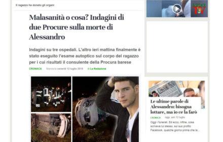 Incidente stradale Taranto: muore in ospedale dopo 52 giorni