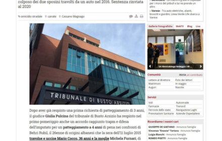 Incidente mortale auto contro moto Varese