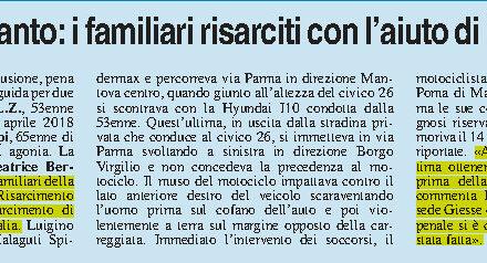 Risarcimento danni omicidio stradale Mantova