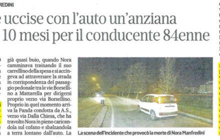 Incidente mortale pedone Modena