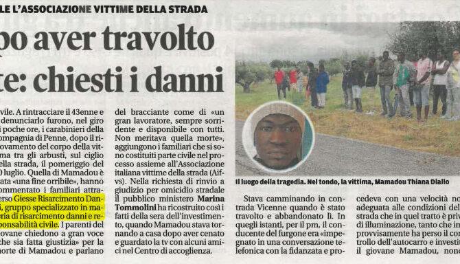 Incidente mortale pedone Pescara