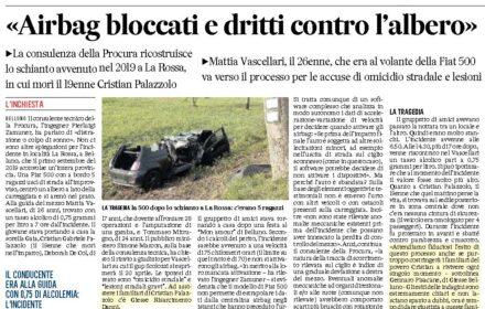 """La Rossa, Belluno: """"Airbag bloccati e dritti contro l'albero"""""""